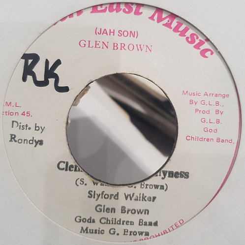 CLEANLINESS IS GODLINESS SLYFORD WALKER GLEN BROWN SOUTH EAST MUSIC 7""