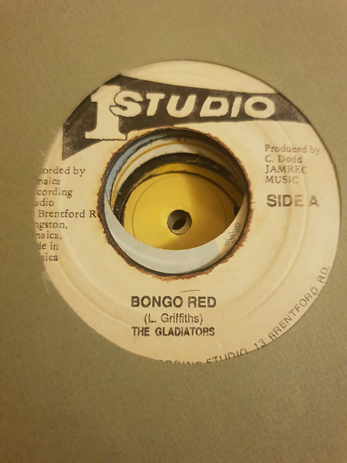 BONGO RED THE GLADIATORS ORIGINAL STUDIO ONE 7""