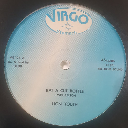 "RAT A CUT BOTTLE LION YOUTH VIRGO LABEL 12"" NEAR MINT"