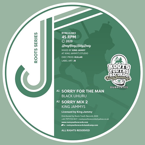 SORRY FOR THE MAN BLACK UHURU 4 MIXES ROOTS YOUTHS KING JAMMYS DUBPLATE SERIES 3