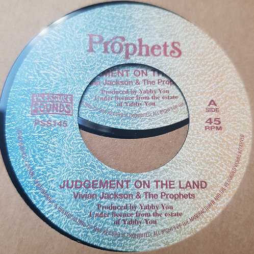"""JUDGEMENT ON THE LAND VIVIAN JACKSON AND THE PROPHETS PRESSURE SOUNDS 7"""""""