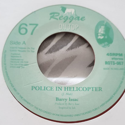 POLICE IN HELICOPTER BARRY ISAAC