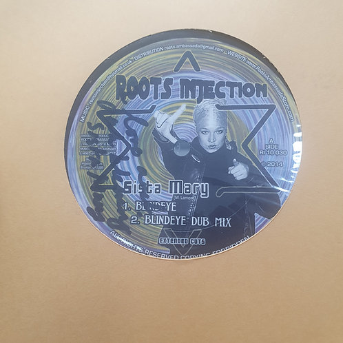 """BLIND EYE / DEM LOST SISTA MARY RAS MUFFET ROOTS INJECTION 10"""" SIGNED COPY"""