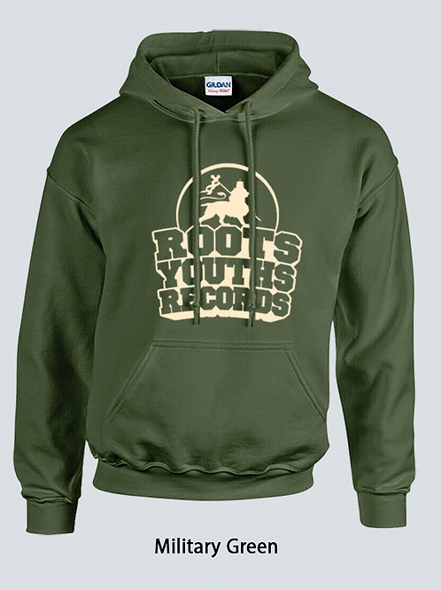 MILITARY GREEN ROOTS YOUTHS RECORDS HOODY