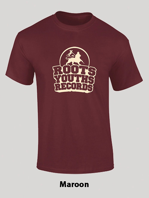 MAROON ROOTS YOUTHS RECORDS T SHIRT