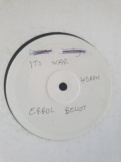 """IT'S WAR / DON'T JUDGE ERROL BELLOT JAH TUBBYS 10"""" TEST PRESS"""