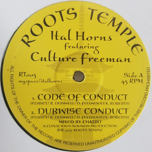 ITAL HORNS FEATURING CULTURE FREEMAN CODE OF CONDUCT