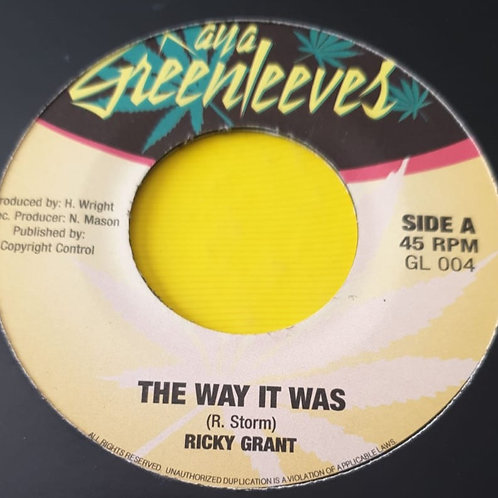 THE WAY IT WAS RICKY GRANT