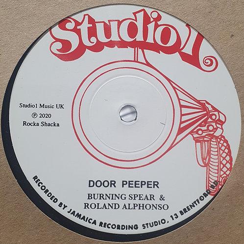 DOOR PEEPER BURNING SPEAR / ALL THE WAY WILLIE WILLIAMS STUDIO 1