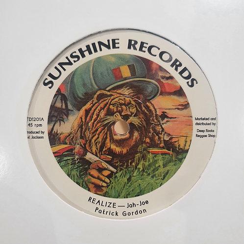 REALIZE PATRICK GORDON JAH JOE SUNSHINE RECORDS