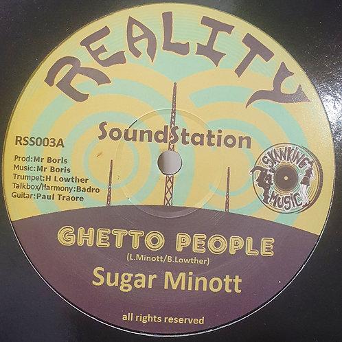 GHETTO PEOPLE SUGAR MINOTT BORIS REALITY SOUND STATION