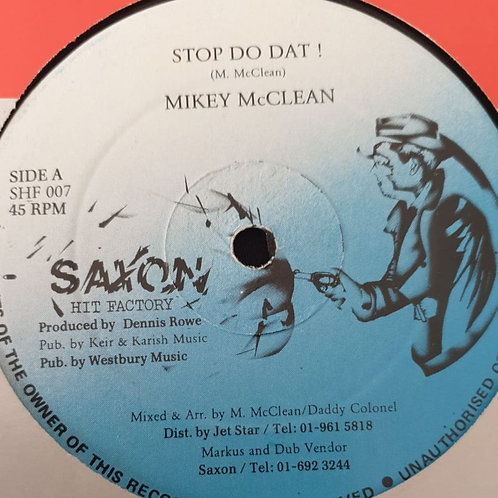 STOP DO THAT MIKEY MCCLEAN