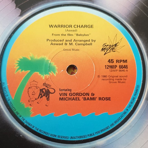 "WARRIOR CHARGE ASWAD ORIGINAL 12"" ISLAND RECORDS"