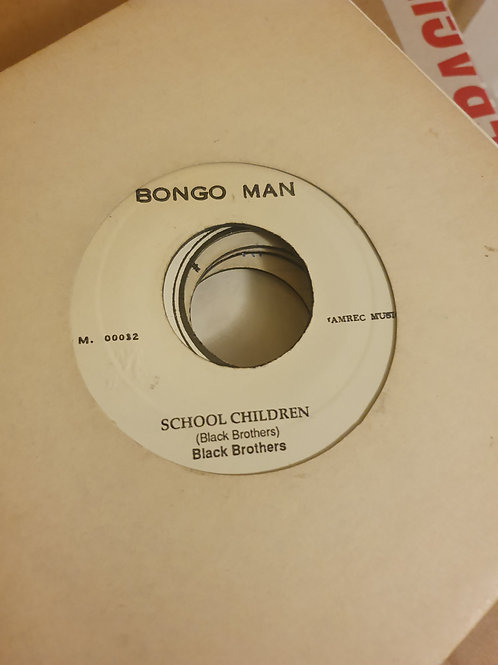 SCHOOL CHILDREN BLACK BROTHER'S STUDIO ONE ORIGINAL BONGO MAN 7""