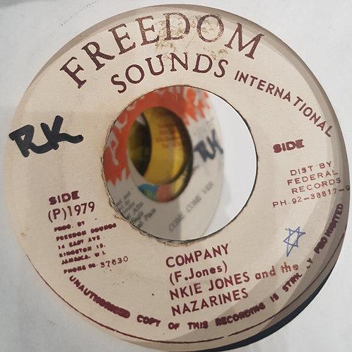 "COMPANY FRANKIE JONES AND THE NAZARINES FREEDOM SOUNDS 7"""