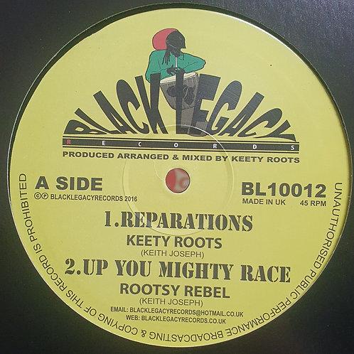 "REPARATIONS KEETY ROOTS BLACK LEGACY 10"" ORIGINAL PRESS"