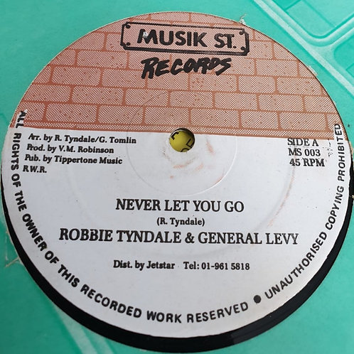 NEVER LET YOU GO ROBBIE TYNDALE & GENERAL LEVY