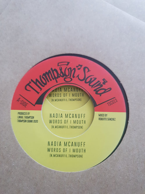 """WORDS OF I MOUTH NADIA MCANUFF THOMPSON SOUNDS 7"""""""