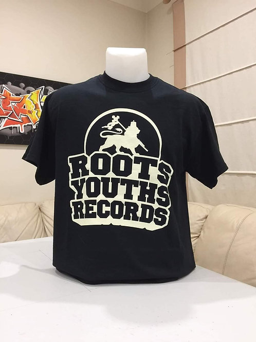 BLACK ROOTS YOUTHS RECORDS T SHIRT