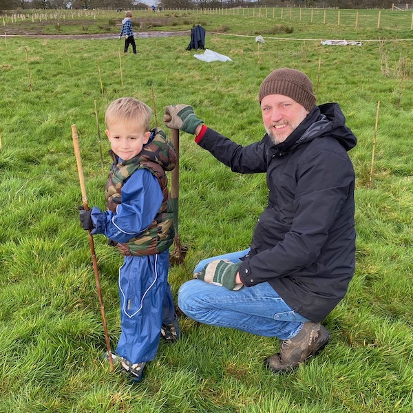 TREE PLANTING Family Tree Planting session at Quarry Bank Mill