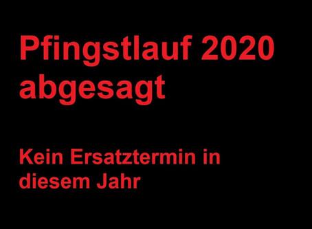 Pfingstlauf 2020 abgesagt: kein Ersatztermin in diesem Jahr