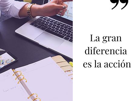 La gran diferencia es la acción
