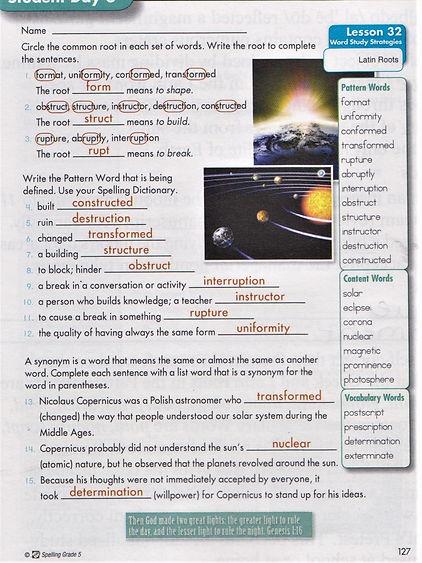 5th Spelling p. 127.JPG