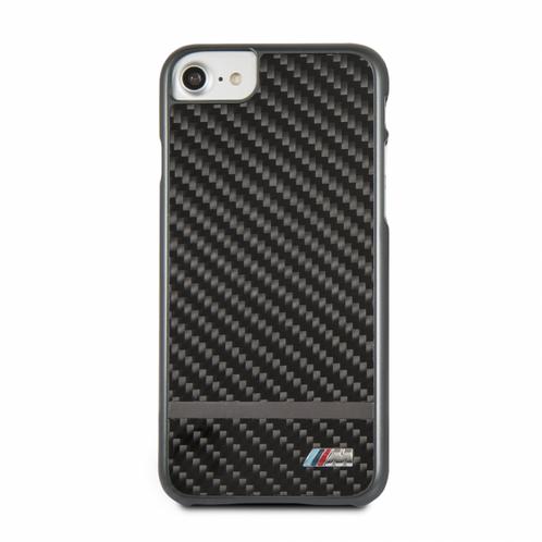 the latest 9beca 6afcb BMW iPhone 8 & 7 Black Real Carbon Fiber Hard Case/Matte Stripe