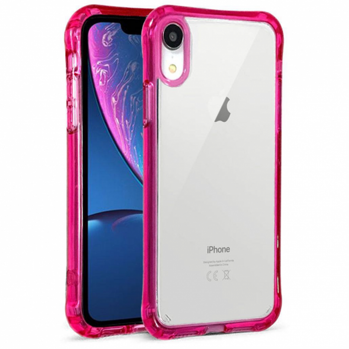 IPHONE XR CANDID SERIES CLEAR CASE -HOT PINK | KOOLKASE
