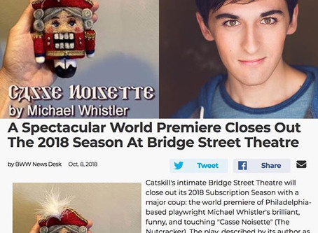 I am excited to join the cast of  Casse Noisette, a world premier at Bridge Street Theatre.