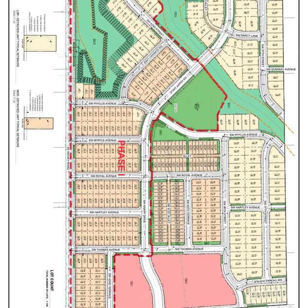 Sunset Village Site Map