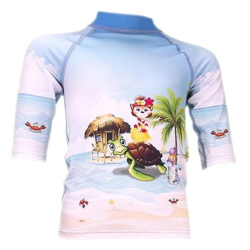 Tee-shirt anti-uv manches 3/4 Tahiti