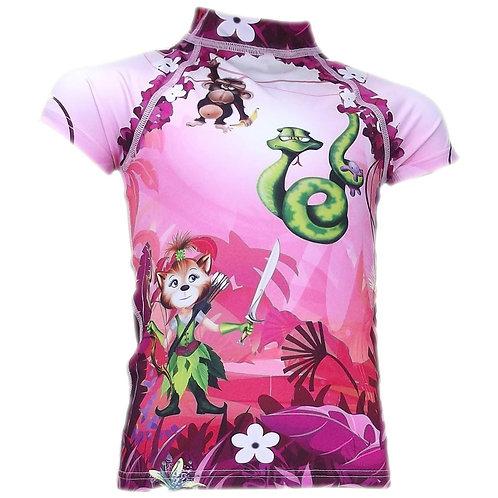 Tee-shirt anti-uv manches courtes Jungle