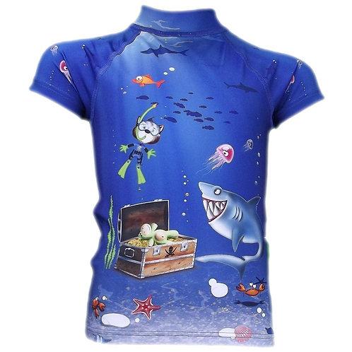 Tee-shirt anti-uv manches courtes Sous-Marin