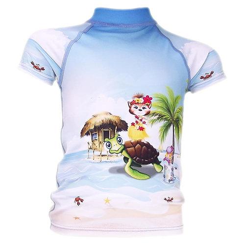 Tee-shirt anti-uv manches courtes Tahiti