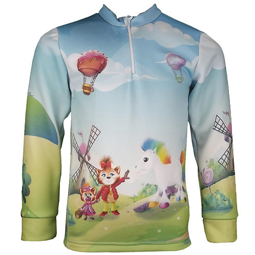 Sweat zippé Licorne