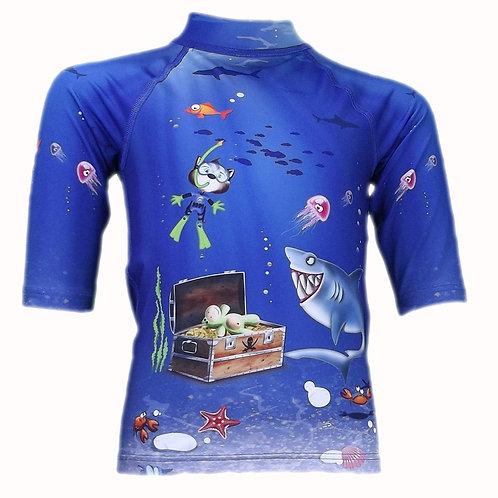 Tee-shirt anti-uv manches 3/4 Sous-Marin