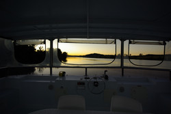 Sunset on the deck-G2Y houseboats