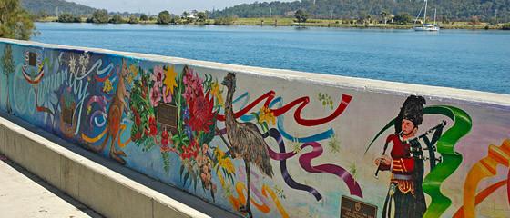Bicentennial mural-G2Y houseboats