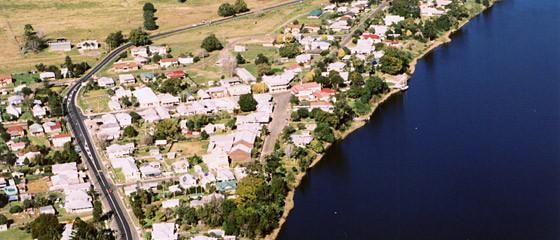 Ulmarra aerial view-G2Y houseboats