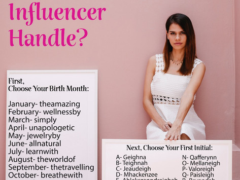 What's Your Overprivileged Influencer Handle?