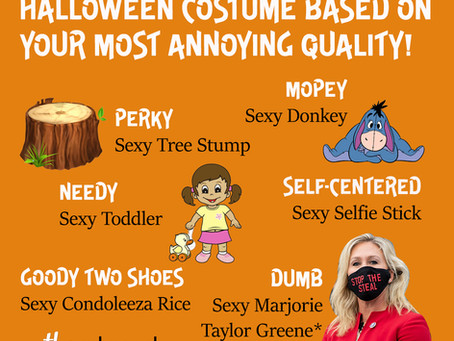 Decide Your Last Minute Halloween Costume Based on Your Most Annoying Quality!