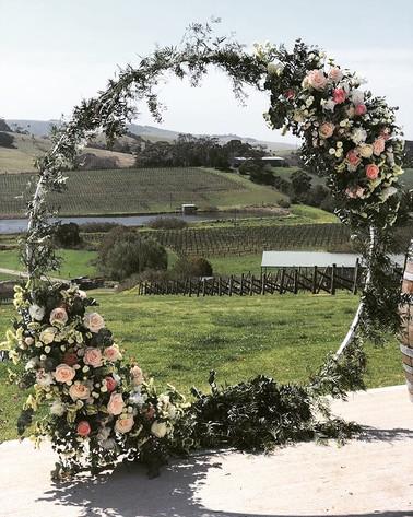 Hoop with Floral Arrangement