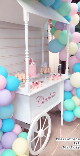 Candy Cart with Canopy