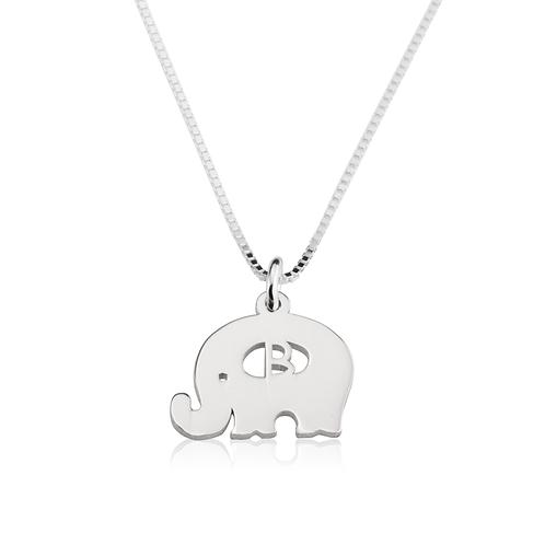 dije elefante personalizado con inicial