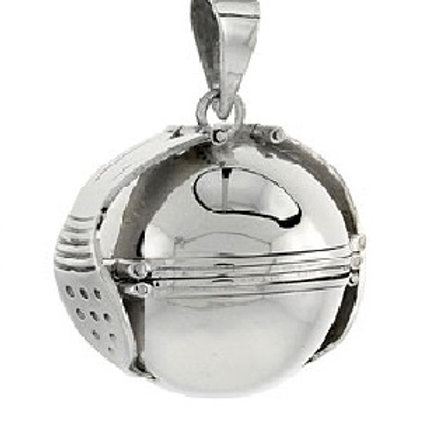 Relicario esfera de plata para 6 fotografias