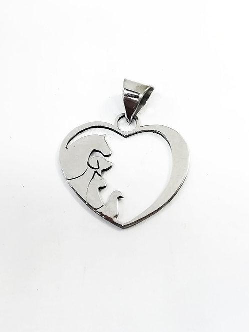 corazon con animales
