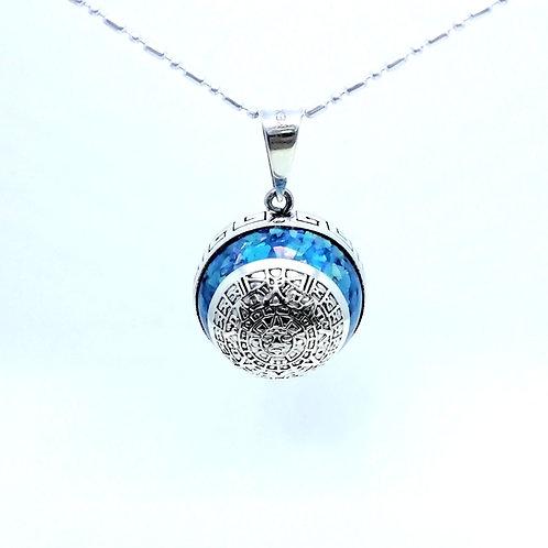 Llamador de angeles calendario azteca azul