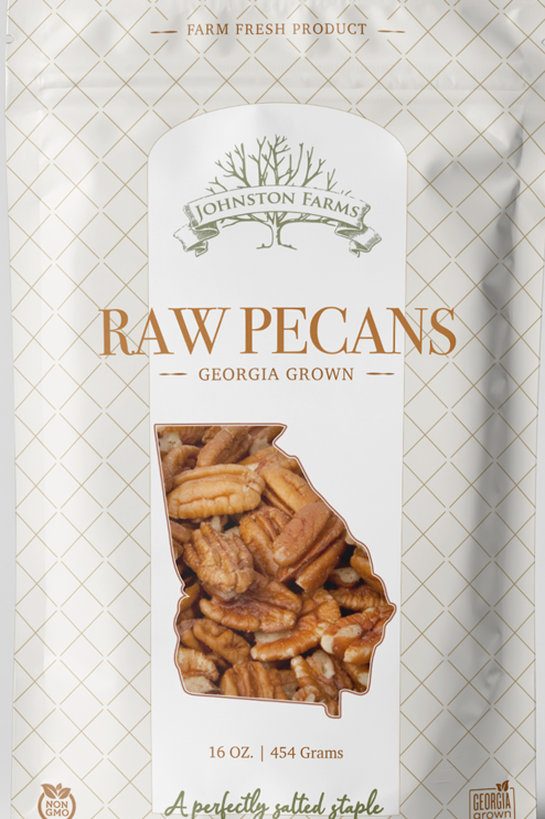 All Natural, Farm Fresh Raw Medium Pecan Halves (1lb)