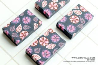 꽃 패턴 비누